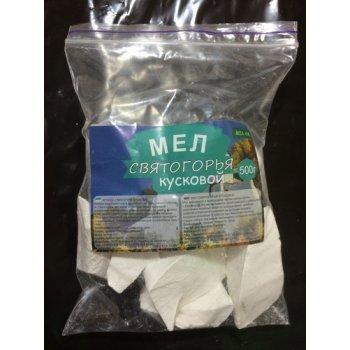 Мел Святогорья натуральный кусковой, пакет (500 г)