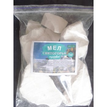 Мел Святогорья натуральный кусковой, пакет (1 кг)