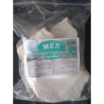 Мел Краматорский натуральный кусковой, пакет 1 кг