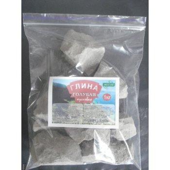 Глина ГОЛУБАЯ натуральная кусковая, пакет 1 кг