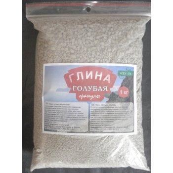 Глина ГОЛУБАЯ натуральная гранулы пакет 1 кг